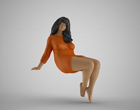 3D printable model Woman Sitting on Tree Branch