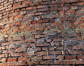 Material of an old brick wall 3D asset