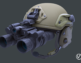 3D model Tactical helmet set