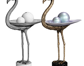 3D model Bronze Bird - Grus-Grus Flamingo by Marie Martin