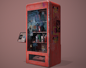 3D asset Old vending machine
