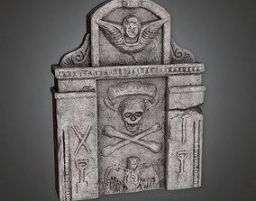 3D model CEM - Grave Stone Cemetery 12 - PBR Game Ready