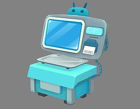 3D asset Cartoon Electronic Scale - Bench Scale - platform