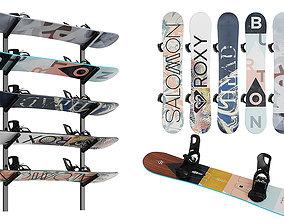 Snowboards BLENDER 3D Model Cycles