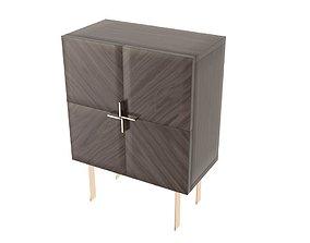 3D asset Entryway Cabinet With Doors