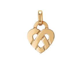 pendentif ou bracelet coeur heart 3D print model
