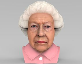 Queen Elizabeth II bust ready for full color 3D printing