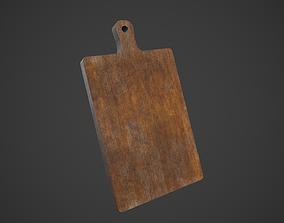 3D asset Old Wooden Cutting Board