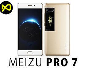 Meizu Pro 7 Gold 3D model