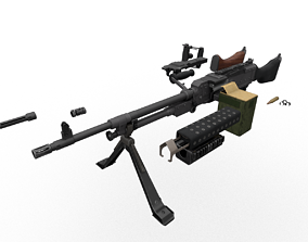 M240 FN MAG Game Ready Kit 3D model