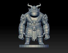 3D printable model monster statue