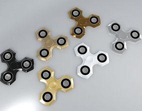 6 Spinner Fidget Widget - Pack 01 3D model