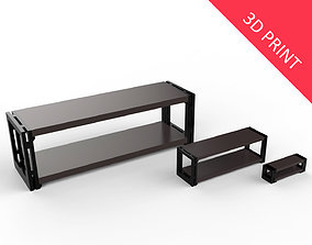 Living Room Rack 02 with 3 Different 3D printable model