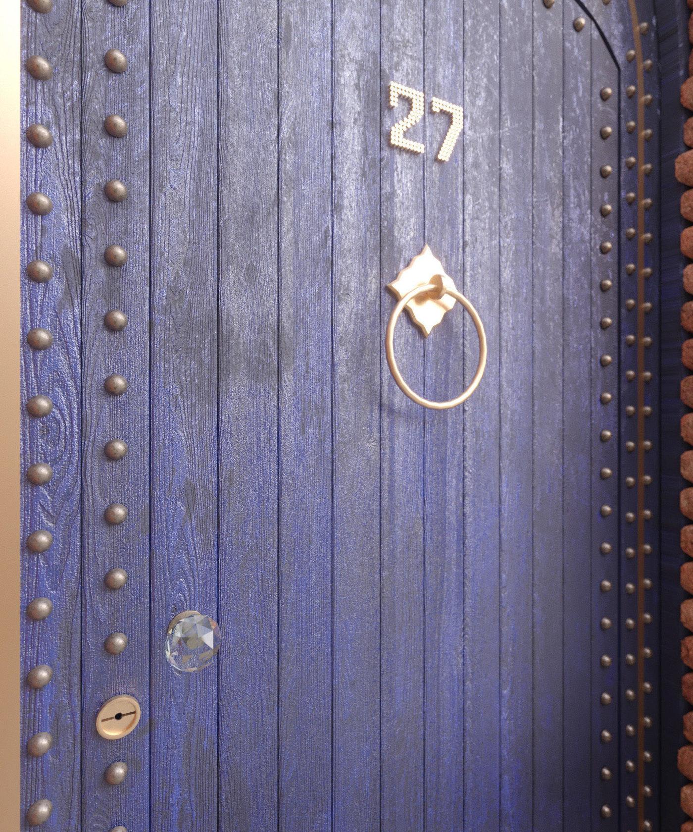Colorful Morocco doorways