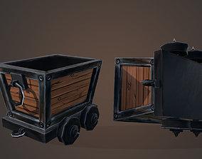 3D model dumptruck baggage cart mining cart