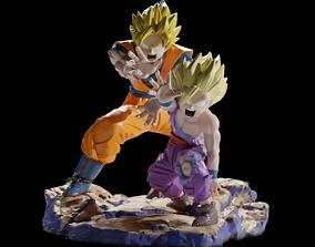 Goku and Gohan Kamehameha 3D print model