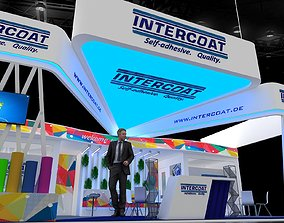 3D model Exhibition Stall 11x7Mtr Three Side Open