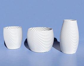 Vase organic 3D printable model