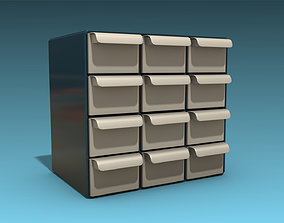 3D asset Storage Cabinet Drawers 01