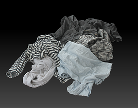 3D asset Pile of Cloths 3