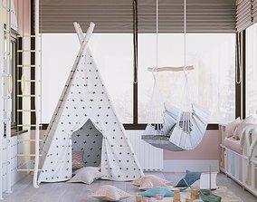 Playroom Interior Scene and Corona Render 3D model