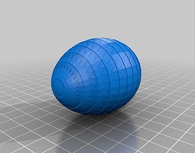 3D printable model Classic Easter Egg Triangle Array