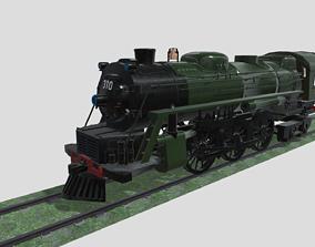 3D model VR / AR ready Steam Engine Train Wagon