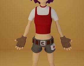 anime female 3D asset