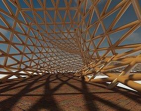 3D Parametric wooden walkway