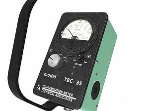 realtime PBR Dosimeter Geiger low poly 3D model