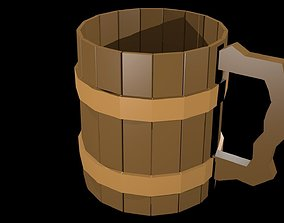 Low Poly Beer Mug 3D model