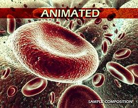 3D model Red Blood Cells Animated