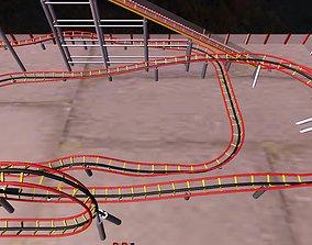 roller coaster 3d model animated VR / AR ready