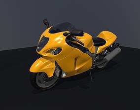 3D asset Suzuki Hayabusa GSX1300R Super Bike