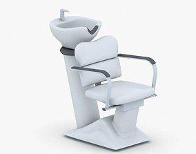 3D asset game-ready 0889 - Hairdresser Chair