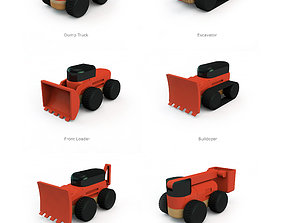building machinery set 3D print model trailer