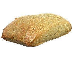 VR / AR ready Photorealistic 3D Scanned Italian Bread