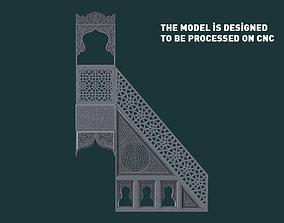 Mosque Minbar 3d stl model for cnc