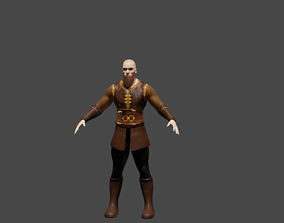 3D turkish armor Low poly character