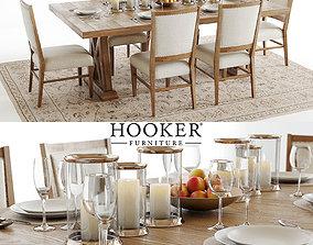 3D Hooker Geo Trestle and Stol Upholstered