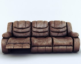 Sofa Ashley Revolution Burgundy 3 seats 3D