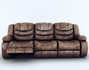 3D Sofa Ashley Revolution Burgundy 3 seats