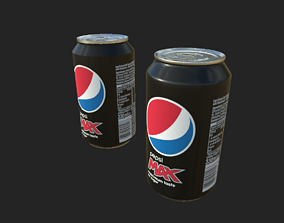 High Quality Pepsi Can LOW Poly and High Poly 3D asset
