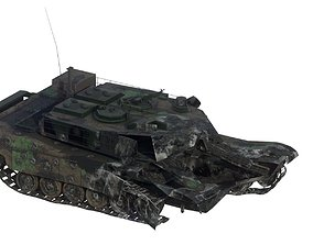 Tank Abrams Destroyed 3D model low-poly