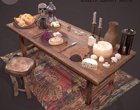 3D model Medieval Tavern Dinner Scene