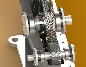 3D model Single stage speed reduction Gearbox