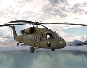 Sikorsky UH-60 Black Hawk helicopter 3D model