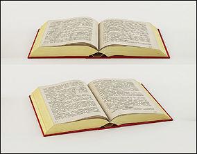 various 3D model Open book