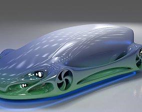 Futuristic Car HD 09 3D model