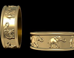 Rings Elephants 3D print model